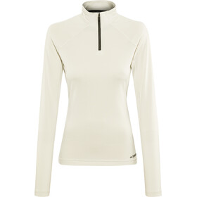 adidas TERREX Trace Rocker 1/2 Zip LS Shirt Damen raw white